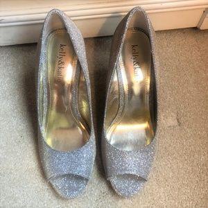Kelly & Katie Wedge Metallic shoes